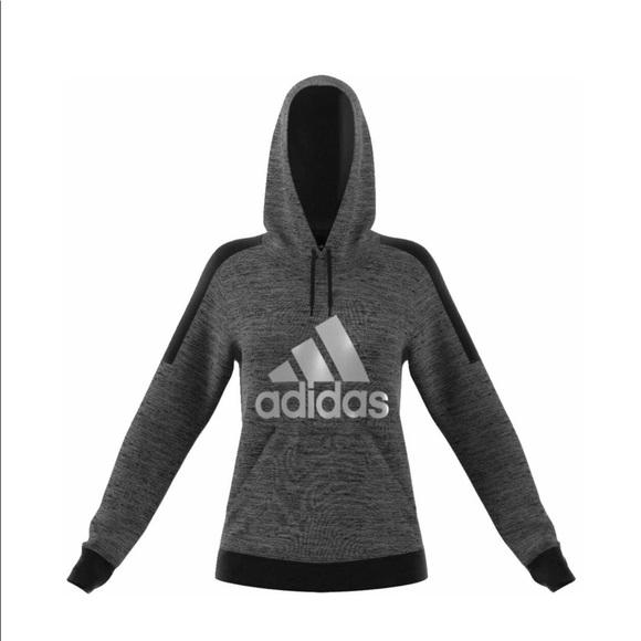dd513752a845 adidas Women s Fleece Pullover Logo Hoodie